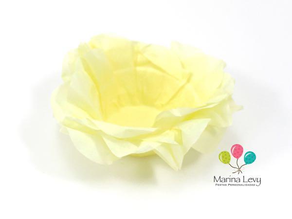 Forminha Flor 40un. - Amarelo Canário