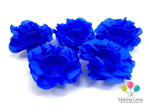 Forminha Flor 40un. - Azul Royal  - Marina Levy Festas