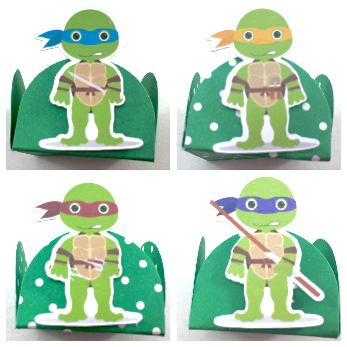 Kit c / 90 Forminhas - Tartarugas Ninja