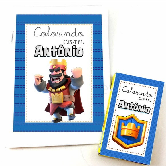 Kit Colorir - Clash Royale