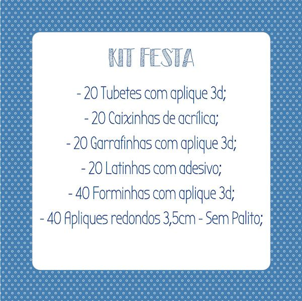 Kit Festa  - Marina Levy Festas