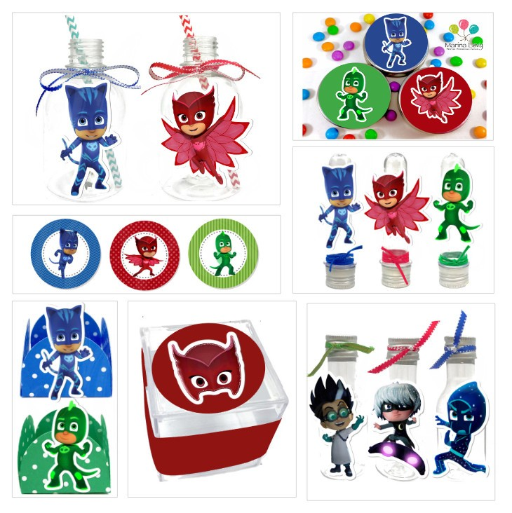 Kit Festa Scrap - PJ Masks