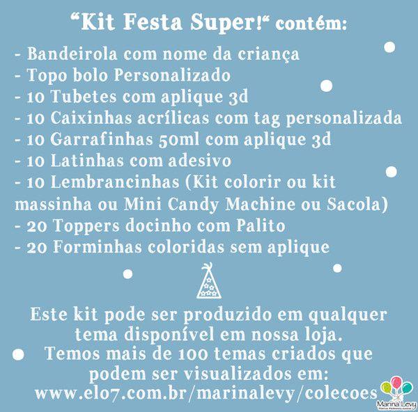 Kit Festa Super  - Marina Levy Festas