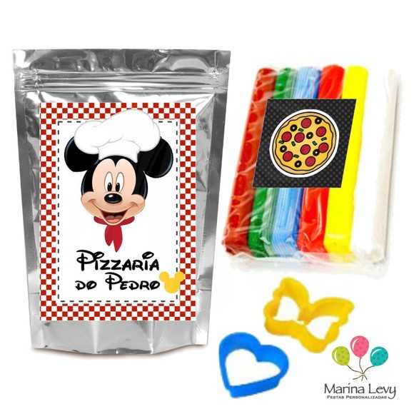 Kit Massinha de Modelar - Pizzaria Mickey