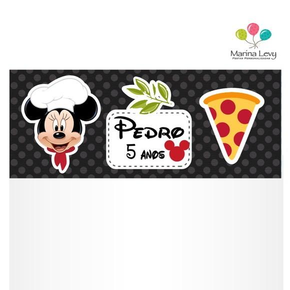 Lapela com Saquinho - Pizzaria Mickey