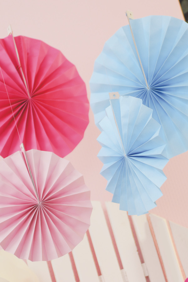 Leque Redondo - Pink  - Marina Levy Festas