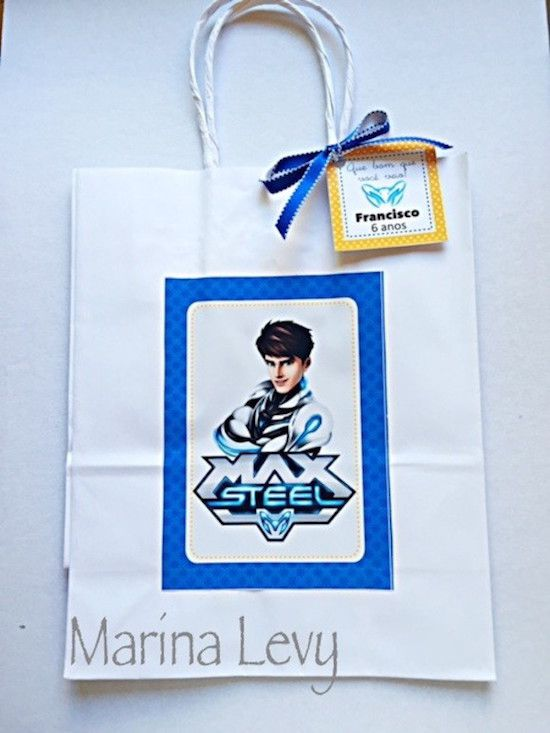 Max Steel - Monte seu Kit  - Marina Levy Festas