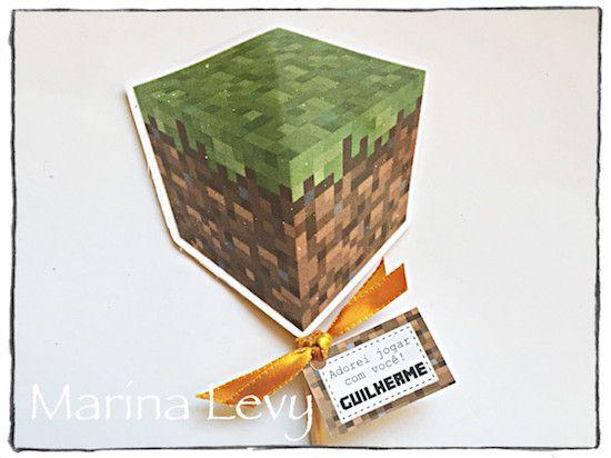 Minecraft - Monte seu Kit  - Marina Levy Festas