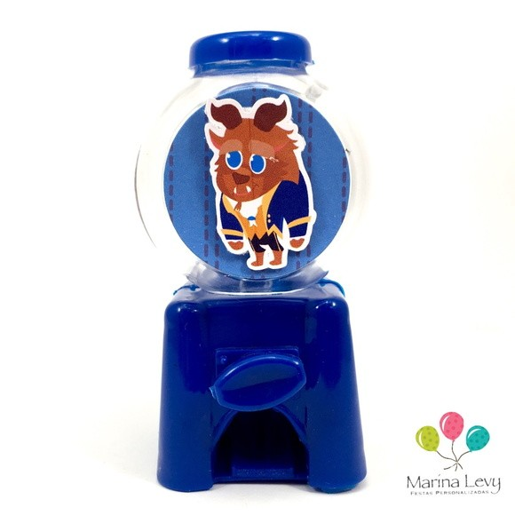 Mini Candy Machine - Bela e a Fera  - Marina Levy Festas