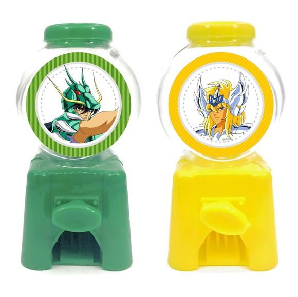 Mini Candy Machine - Cavaleiros do Zodíaco  - Marina Levy Festas