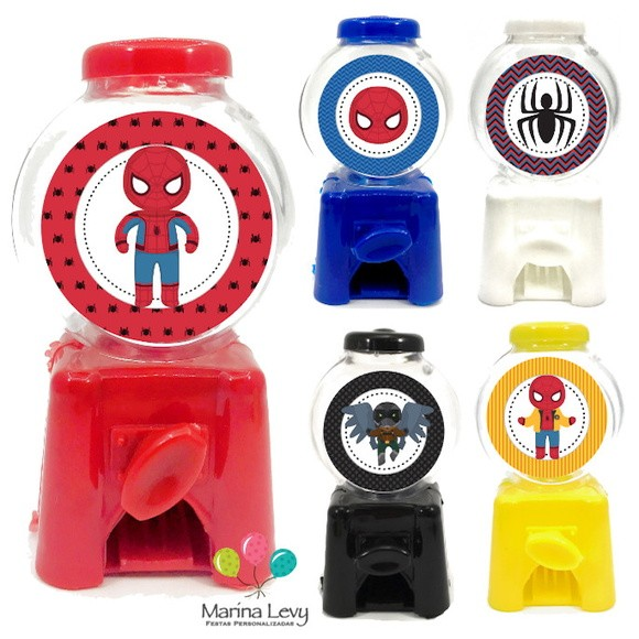 Mini Candy Machine - Homem Aranha