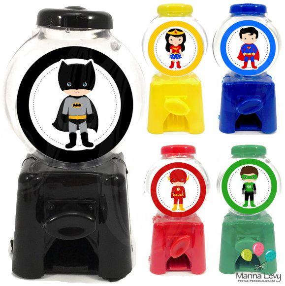 Mini Candy Machine - Liga da Justiça