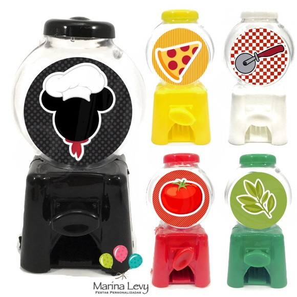 Mini Candy Machine - Pizzaria Mickey