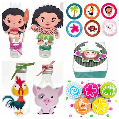 Moana Cute - Monte seu Kit