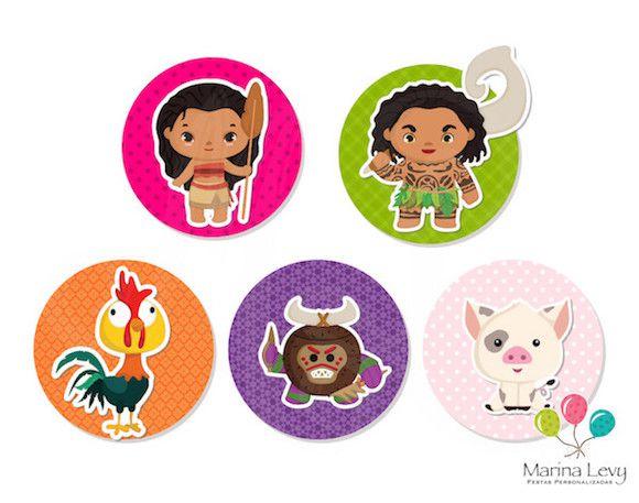 Moana Cute - Monte seu Kit  - Marina Levy Festas