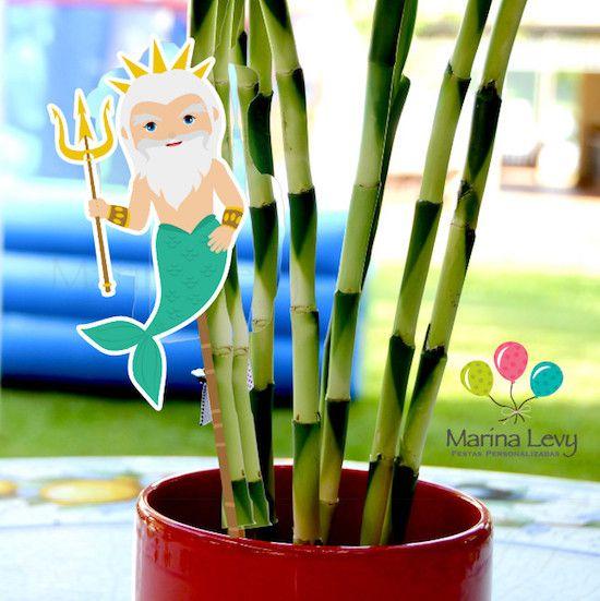 Pequena Sereia - Monte seu Kit  - Marina Levy Festas