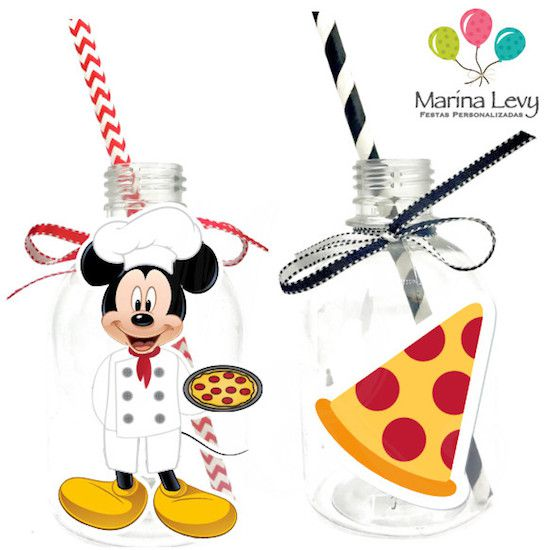 Pizzaria do Mickey - Monte seu Kit  - Marina Levy Festas