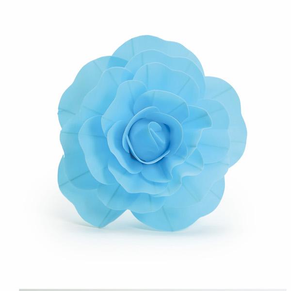 Rosa Decorativa Azul  - Marina Levy Festas
