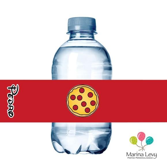 Rótulo Água 10un. - Pizzaria Mickey