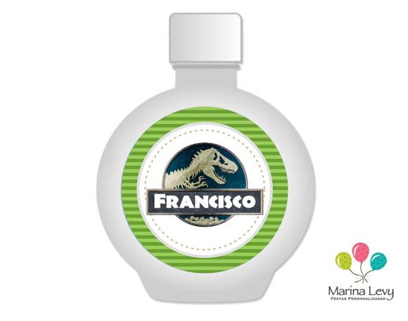 Rótulo Água Redonda 12un. - Dinossauros