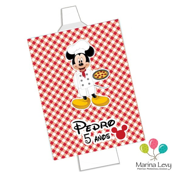Rótulo Bisnaga Brigadeiro - Pizzaria Mickey