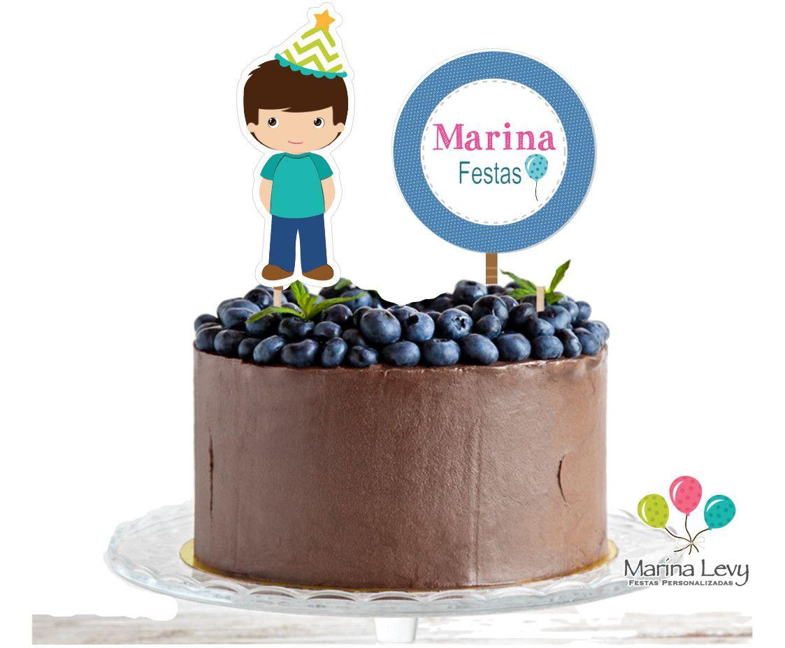 Topo de Bolo  - Marina Levy Festas