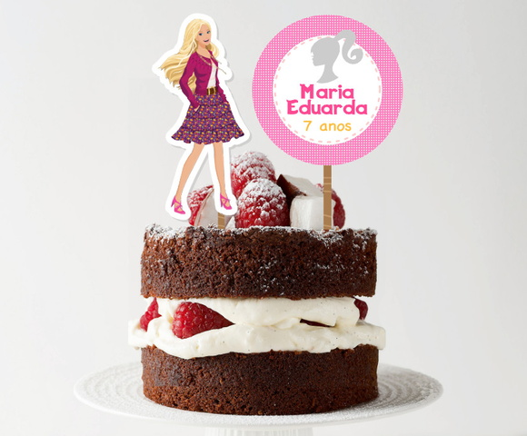 Topo de bolo - Barbie