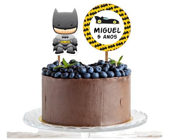 Topo de bolo - Batman