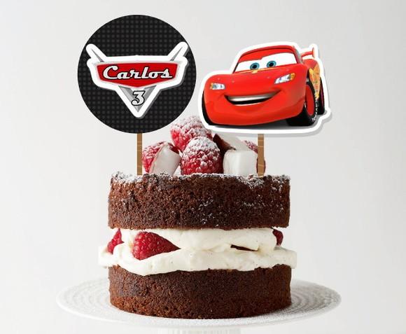 Topo de bolo - Carros