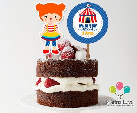Topo de bolo - Circo Menina