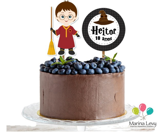 Topo de bolo - Harry Potter