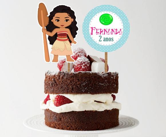 Topo de bolo - Moana