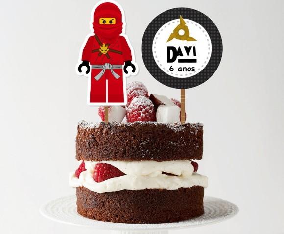 Topo de bolo - Ninjago