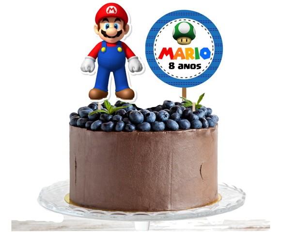 Topo de bolo - Super Mario