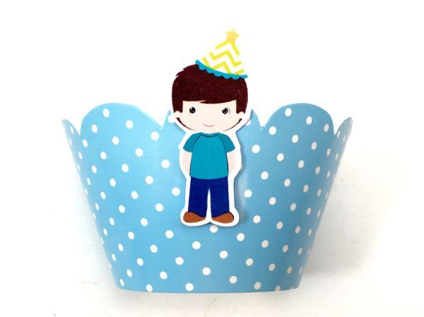 Wrapper Cupcake com Aplique 3D;  - Marina Levy Festas