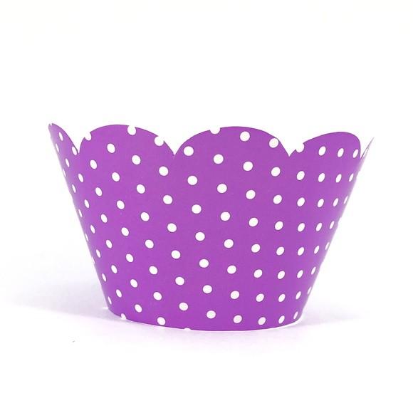 Wrapper para Cupcake - Lilas Poá