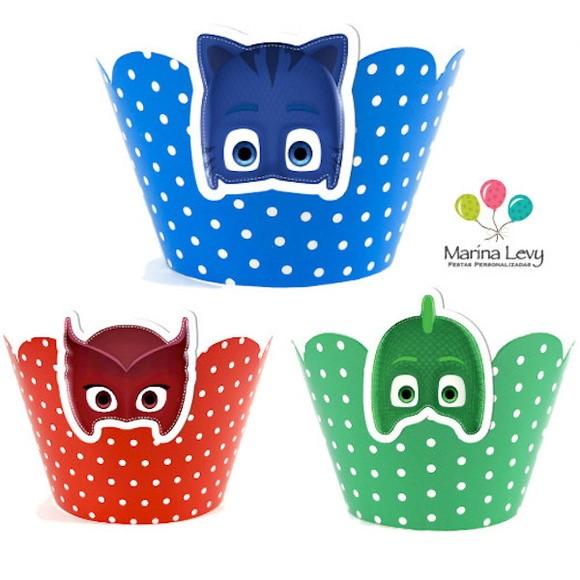 Wrapper para Cupcake - PJ Masks