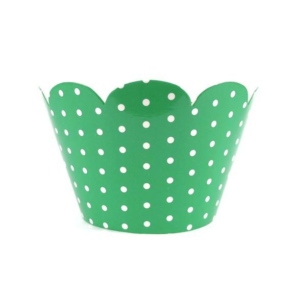 Wrapper para Cupcake - Verde Poá