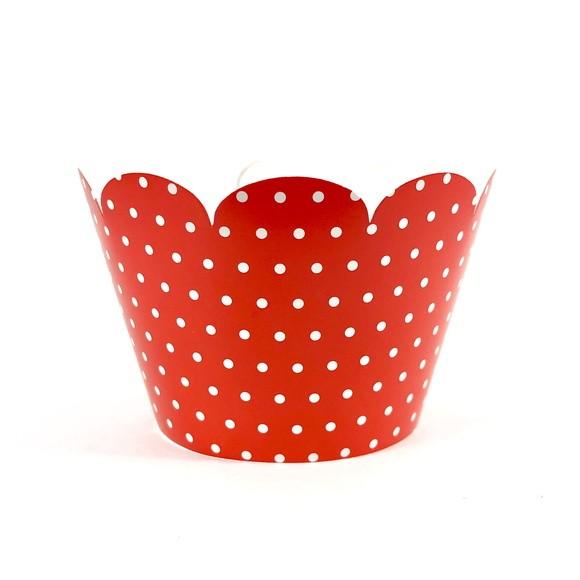 Wrapper para Cupcake - Vermelha Poá