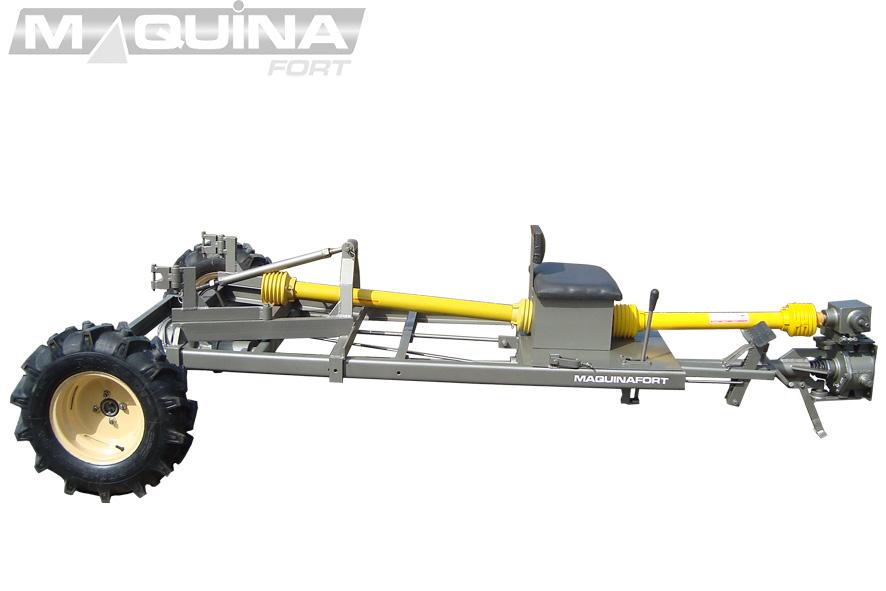 Carreta tracionada para micro-trator - multi - compacta (sem carroceria)