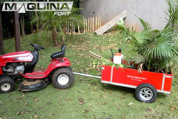 Carreta para trator cortador de grama com pneu aro 8 - 1300T