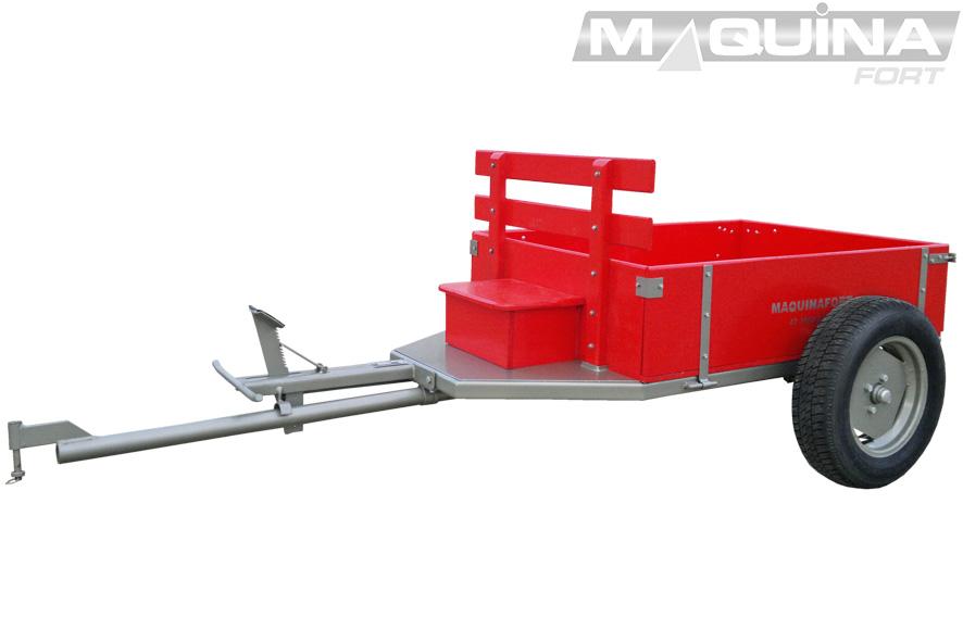 Carreta simples (sem tração) para motocultivador - 1300 R13