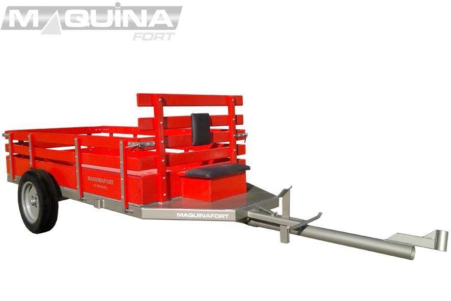 Carreta simples (sem tração) para micro-trator