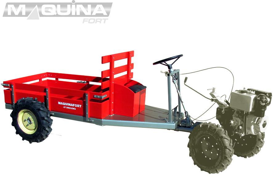 Carreta tracionada para motocultivador Impactu's 600T  - COM DIREÇÃO