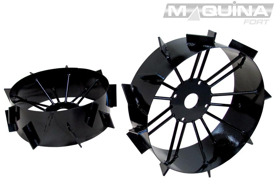 Conjunto de rodas de ferro para micro-trator