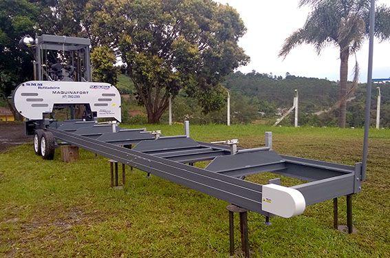 Refiladeira Horizontal SMM - Com avanço e bitolador - Motor trifásico de 30cv