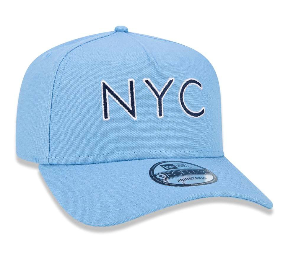 b692a569a64cc ... BONÉ NEW ERA ABA CURVA SNAPBACK NYC NEW YORK CITY AZUL BEBÊ - Soul  Beach ...
