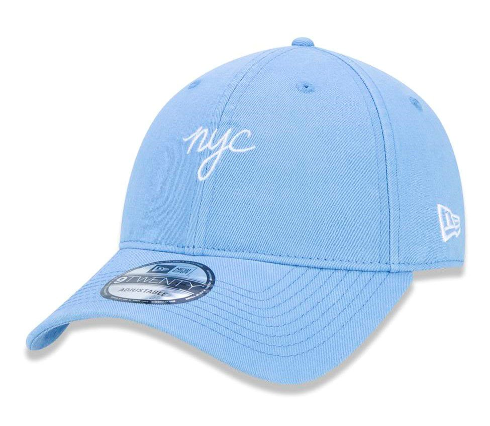 BONÉ NEW ERA ABA CURVA STRAPBACK NYC NEW YORK CITY AZUL BEBÊ - Soul Beach  ... b8bf70c9ff774