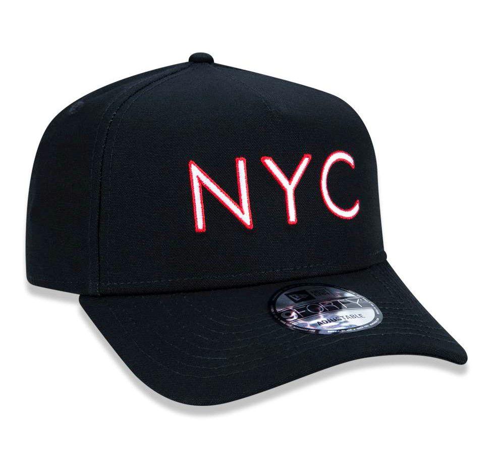 bd6c24df4d3a8 Boné New Era NYC Snapback Aba Curva Preto - Loja Virtual Soul Beach ...