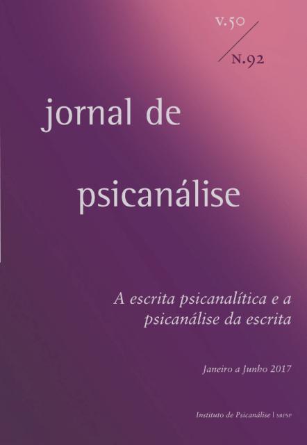 Assinatura - Jornal de Psicanálise  (Nº 92 / Nº93) 2017